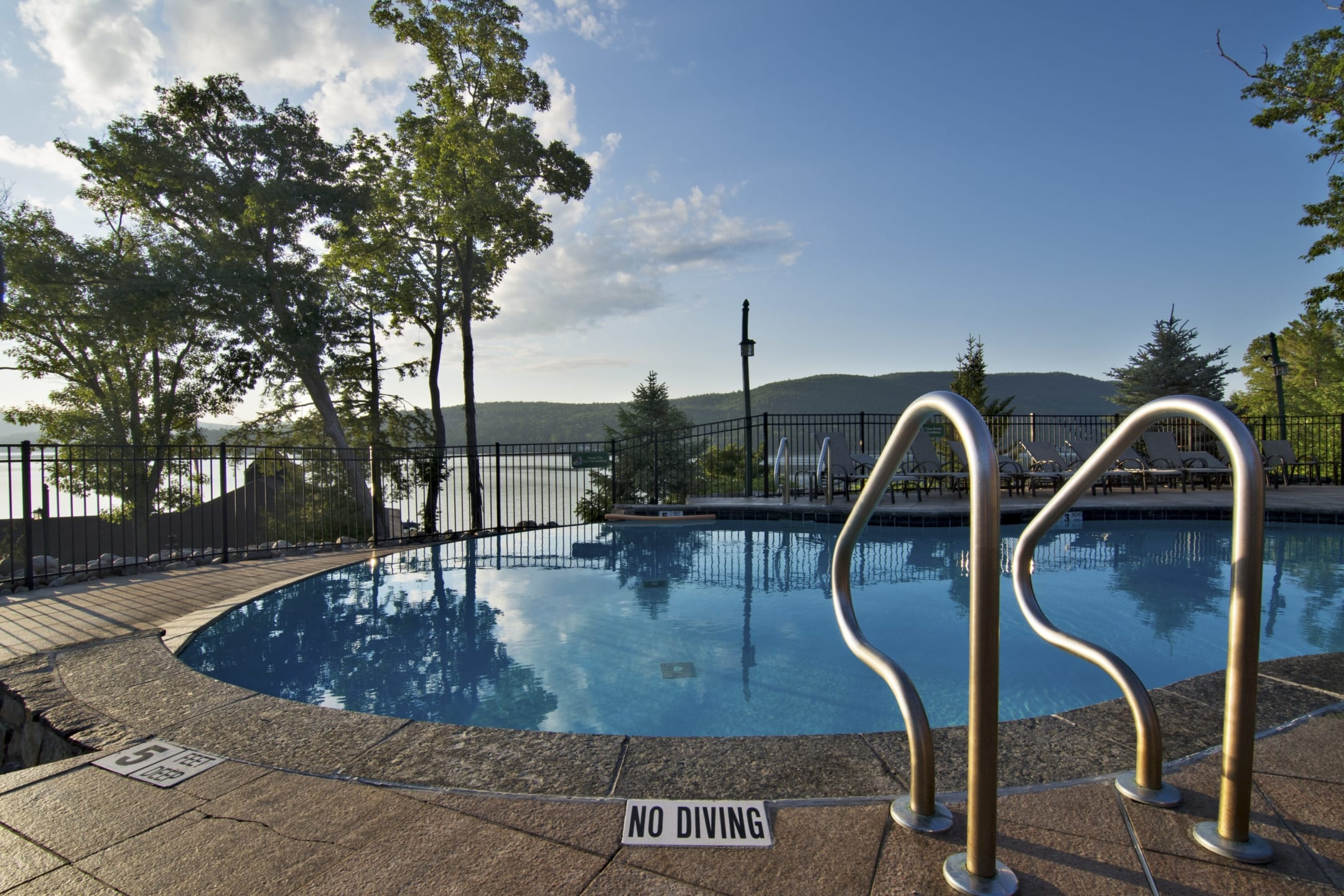 Outdoor Pool Overlooking Lake George